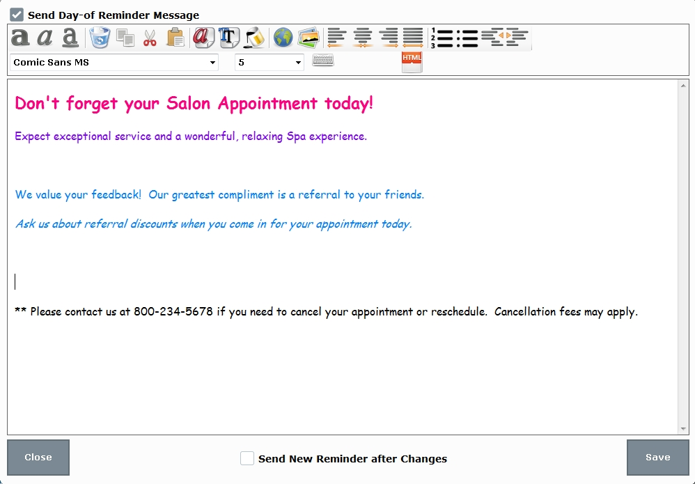 Create Appointment Reminders | Exatouch Knowledge Base